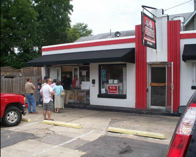[Image: Our carry out location is located at 215 N. Cross Street in Little Rock.  We also have a covered patio with outside seating.]